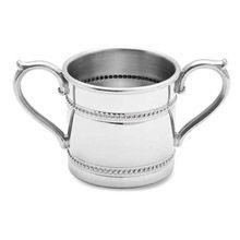 Baby Beads Double Handle Pewter Baby Cup by Reed & Barton