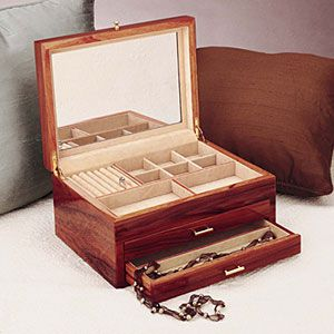 Reed and Barton Rosewood Jewelry Chest
