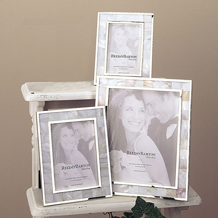reed and barton mother of pearl silver picture frame