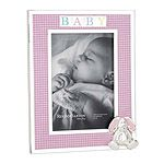 Reed and Barton Gingham Bunny Picture Frame