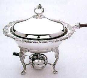 Burgundy Silverplated Chafing Dish By Reed And Barton