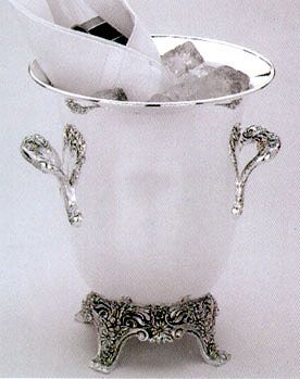 Burgundy Silverplated Wine Cooler By Reed And Barton