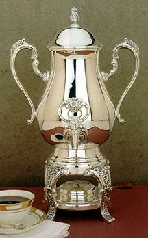 Burgundy Silver Coffee Urn Server Reed And Barton