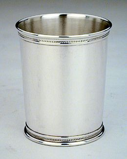 Reed and Barton Mint Julep Cup, Bead Border Silverplated