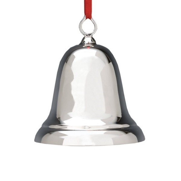 Reed and Barton Sterling Silver Bell, Plain | Reed and Barton Christmas Tree Decoration | Silver Christmas Bell
