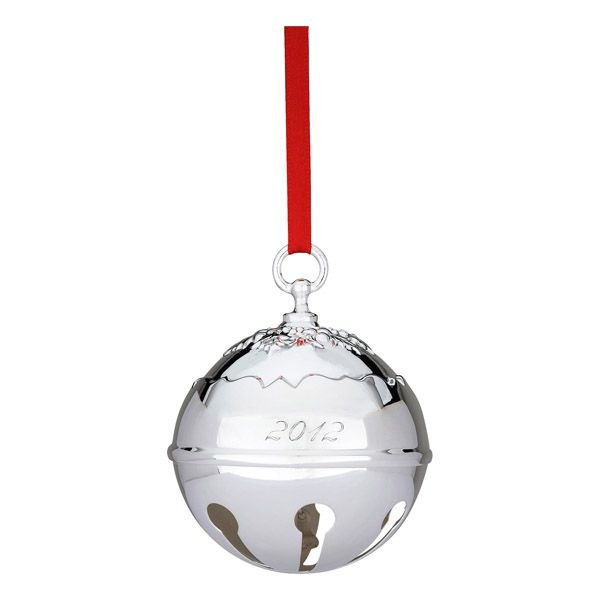 Reed and barton holly bell silver christmas ornament