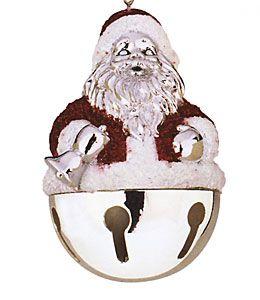 Santa sleigh bell ornament for less reed amp barton amp