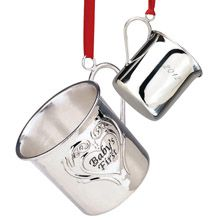 2012 Reed & Barton Williamsburg Baby's First Christmas Cup Sterling Silver Ornament