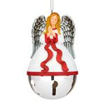 2012 Reed and Barton Angel Sleigh Bell Silver Christmas Ornament