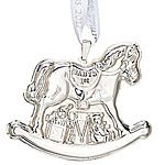 2012 Reed and Barton Baby's First Christmas Rocking Horse Silver Ornament