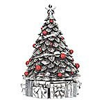 Reed and Barton Christmas Tree Silver Musical