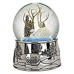 Reed and Barton Swan Lake Silver Musical Snow Globe