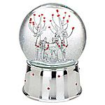 Reed and Barton Winter Deer Silver Musical Snow Globe