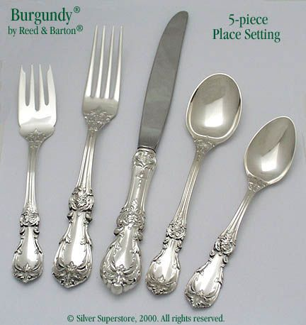 Reed and Barton Burgundy Sterling Silver Flatware 5-pc  sc 1 st  Silver Superstore & Burgundy Sterling Silver Flatware at Discount - Reed and Barton