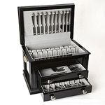 Ricci Black Laquered Wood Flatware Chest