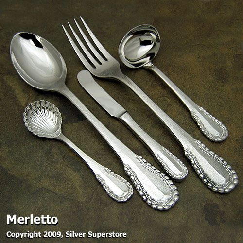 Ricci Merletto Stainless 5-pc Hostess Set & Merletto by Ricci - Stainless Flatware