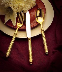 Ricci Amalfi Gold Plated Stainless Flatware Handle
