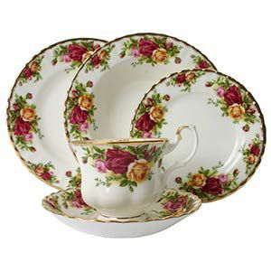 Royal Doulton Old Country Rose 5-pc Place Setting  sc 1 st  Silver Superstore & Old Country Roses China by Royal Doulton | SilverSuperstore.com