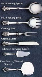 Sterling silver piece guide - Hostess Helpers, page 1