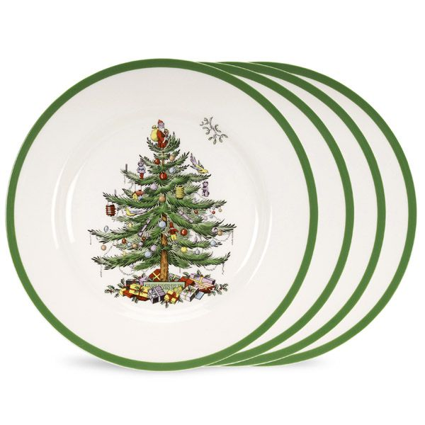 Spode Christmas Tree Dinnerware Dinner Plate Set of 4  sc 1 st  Silver Superstore & Spode Christmas Tree Holiday Dinnerware | Silver Superstore
