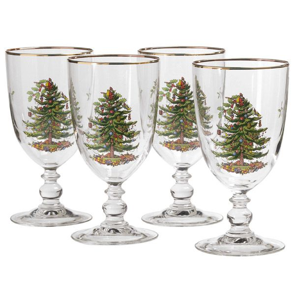 Spoce christmas tree casual glassware for Holiday stemware