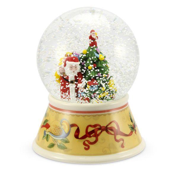 Spode Christmas Tree History: 2012 Spode Christmas Tree Annual Musical Snow Globe