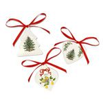 2012 Spode Christmas Tree Set of Three Ornaments