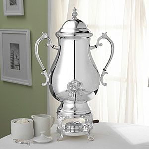 Silverplated Coffee Urn Server 50 Cup Capacity Towle