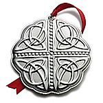 2012 Towle Celtic Sterling Silver Christmas Ornament
