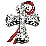 2012 Towle Annual Cross Sterling Silver Christmas Ornament