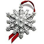 2012 Towle Old Master Snowflake Sterling Silver Christmas Ornament