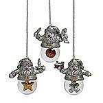 Towle Santa Snow Globe Ornaments