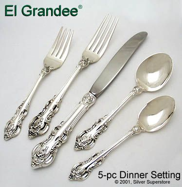 1964 Sterling Silver Salad Fork 6 7//8 in in El Grandee by Towle