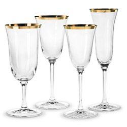 Classic banded gold crystal stemware by vera wang - Vera wang stemware ...