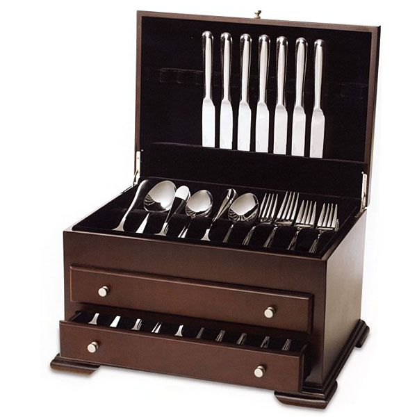 Federal 2 drawer chest silverware storage by wallace for Silverware storage no drawers