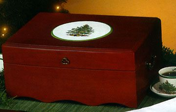 Spode Christmas Tree Flatware Chest