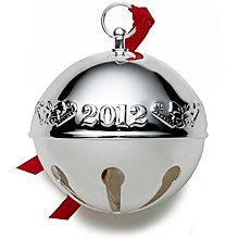 2012 Wallace Silverplate Sleigh Bell Christmas Ornament