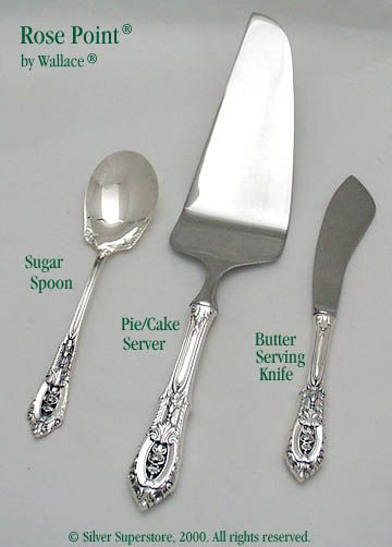 Rose Point Gold by Wallace Sterling Butter Spreader HH