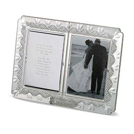 waterford crystal wedding announcement frame