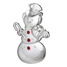2012 Waterford Snowman Silver Christmas Ornament