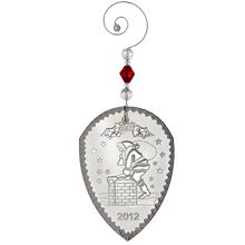 2012 Waterford Twas The Night Crystal Christmas Ornament