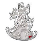 2012 Waterford Santa Silver Christmas Ornament