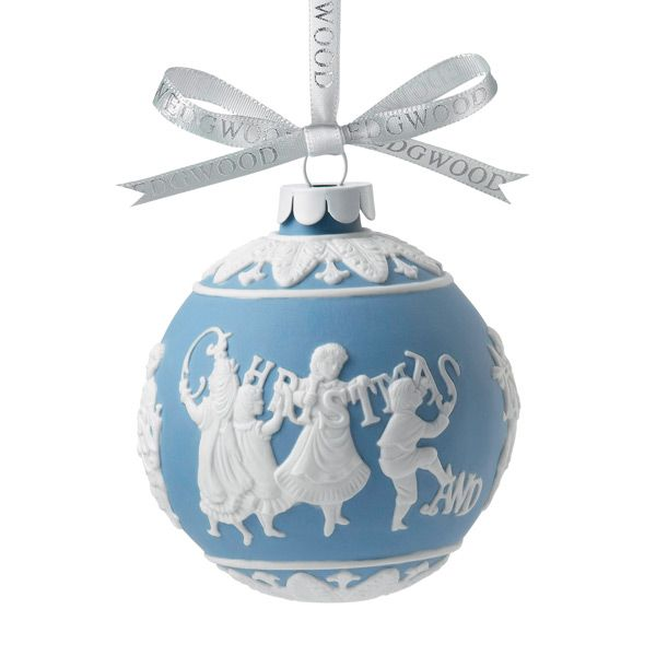 Wedgwood merry christmas and happy new year porcelain ornament