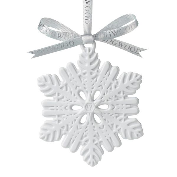 Wedgwood White Snowflake Porcelain Ornament | Silver Superstore