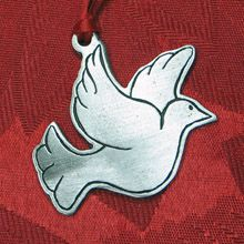 Woodbury Pewter Dove Christmas Ornament