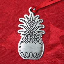 Woodbury Pewter Pineapple Christmas Ornament
