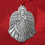 Woodbury Pewter Angel Christmas Ornament