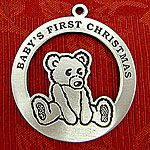 Woodbury Pewter Baby's First Christmas Ornament