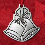 Woodbury Pewter Bells Christmas Ornament