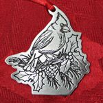 Woodbury Pewter Cardinal Christmas Ornament